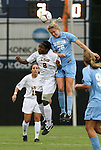 18 September 2009: North Carolina's Ali Hawkins (76) and LSU's Melissa Clarke (8). The University of North Carolina Tar Heels defeated the Louisiana State University Tigers 1-0 at Koskinen Stadium in Durham, North Carolina in an NCAA Division I Women's college soccer game.