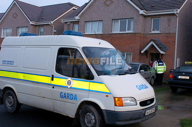 Drogheda. garda at the House in Termon Abbey on the outskirts of Drogheda where they uncovered nearly Û500,000 Euro worth of cocaine and equipment used for manufracturing. One Dublin man was arrested in the operation..Photo NEWSFILE/FRAN CAFFREY..(Photo credit should read FRAN CAFFREY/NEWSFILE.COPY Elaine Keogh..This Picture has been sent you under the condtions enclosed by:.Newsfile Ltd..the Studio,.Millmount Abbey,.Drogheda,.Co Meath..Ireland..Tel: +353(0)41-9871240.Fax: +353(0)41-9871260.GSM: +353(0)86-2500958.email: pictures@newsfile.ie.www.newsfile.ie.FTP: 193.120.102.198..This picture is from Fran Caffrey@newsfile.ie