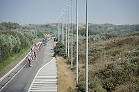 peloton riding through the Belgian coast dunes<br /> <br /> 12th Eneco Tour 2016 (UCI World Tour)<br /> stage 3: Blankenberge-Ardooie (182km)