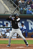 Luis Jean (26) of the Grand Junction Rockies at bat against the Ogden Raptors during Opening Night of the Pioneer League Season on June 16, 2014 at Lindquist Field in Ogden, Utah. (Stephen Smith/Four Seam Images)