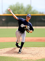Damon Krestalude / AZL Brewers..Photo by:  Bill Mitchell/Four Seam Images