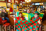 Tina Cunningham, Damien Roche and Bridie Roche of the Sportsfield bar, Tralee, getting ready for the Kerry v Mayo National Football League Clash on Saturday night.