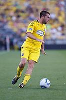 3 JULY 2010:  Jason Garey of the Columbus Crew (9) during MLS soccer game between Chicago Fire vs Columbus Crew at Crew Stadium in Columbus, Ohio on July 3, 2010.