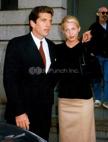 John Kennedy Jr & Carolyn Bessette (wife) 1996<br /> Photo By John Barrett-PHOTOlink.net / MediaPunch