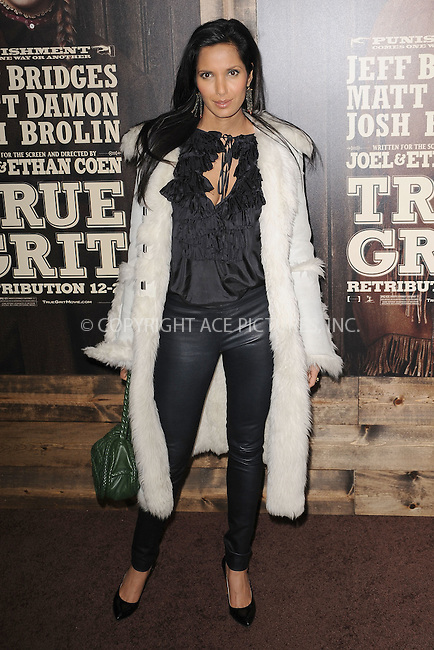 WWW.ACEPIXS.COM . . . . . .December 14, 2010...New York City...Padma Lakshmi attends the premiere of 'True Grit' at the Ziegfeld Theatre on December 14, 2010 in New York City. ....Please byline: KRISTIN CALLAHAN - ACEPIXS.COM.. . .Ace Pictures, Inc: ..tel: (212) 243 8787 or (646) 769 0430..e-mail: info@acepixs.com..web: http://www.acepixs.com .