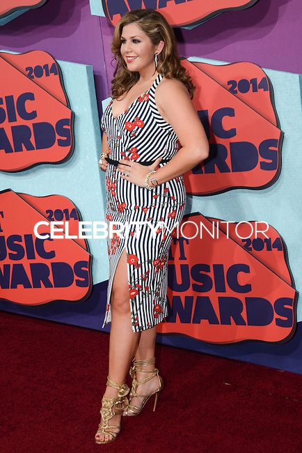 NASHVILLE, TN, USA - JUNE 04: Hillary Scott, Lady Antebellum at the 2014 CMT Music Awards held at the Bridgestone Arena on June 4, 2014 in Nashville, Tennessee, United States. (Photo by Celebrity Monitor)