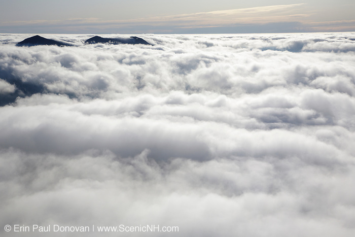 Undercast from the summit of Mount Osceola in the White Mountains, New Hampshire USA