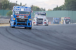 German driver Stephanie Halm belonging German team Stephanie Halm and Czech driver Adam Lacko belonging Czech team Buggyra International Racing System  during the fist race R1 of the XXX Spain GP Camion of the FIA European Truck Racing Championship 2016 in Madrid. October 01, 2016. (ALTERPHOTOS/Rodrigo Jimenez)