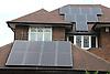 Solar panels on detached house