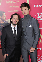 "14 June 2017 - Los Angeles, California - Edgar Wright, Ansel Elgort. Los Angeles Premiere of ""Baby Driver"" held at the Ace Hotel Downtown in Los Angeles. Photo Credit: Birdie Thompson/AdMedia"