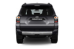 Straight rear view of 2018 Toyota 4Runner Off-Road 5 Door SUV stock images