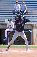 Cedar Rapids Kernels second baseman Yeltsin Encarnacion (43) at bat during a Midwest League game against the Beloit Snappers on June 2, 2019 at Pohlman Field in Beloit, Wisconsin. Beloit defeated Cedar Rapids 6-1. (Brad Krause/Four Seam Images)
