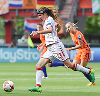 20170806 - ENSCHEDE , NETHERLANDS : Danish Sofie Junge Pedersen  pictured during the female soccer game between The Netherlands and Denmark  , the final at the Women's Euro 2017 , European Championship in The Netherlands 2017 , Sunday 6th of August 2017 at Grolsch Veste Stadion FC Twente in Enschede , The Netherlands PHOTO SPORTPIX.BE | DIRK VUYLSTEKE