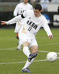 13 December 2009: Akron's Ben Zemanski. The University of Akron Zips played the University of Virginia Cavaliers at WakeMed Soccer Stadium in Cary, North Carolina in the NCAA Division I Men's College Cup Championship game.