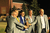 Winning European Team Vice Captains Paul McGinley (IRL), Miguel Angel Jimenez (ESP), Captain Jose Maria Olazabal (ESP), Darren Clarke (NIR) and Thomas Bjorn (DEN) after Sunday's Singles Matches of the 39th Ryder Cup at Medinah Country Club, Chicago, Illinois 30th September 2012 (Photo Colum Watts/www.golffile.ie)