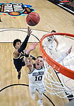SAN ANTONIO, TX - APRIL 02:  Donte DiVincenzo #10 of the Villanova Wildcats looks for the rebound against Jordan Poole #2 of the Michigan Wolverines in the 2018 NCAA Men's Final Four National Championship game at the Alamodome on April 2, 2018 in San Antonio, Texas.  (Photo by Brett Wilhelm/NCAA Photos via Getty Images)