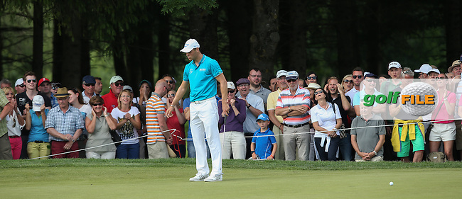 The pressure grows with two holes left to try and make the cut for Martin Kaymer (GER) during Round Two of the 2015 BMW International Open at Golfclub Munchen Eichenried, Eichenried, Munich, Germany. 26/06/2015. Picture David Lloyd | www.golffile.ie