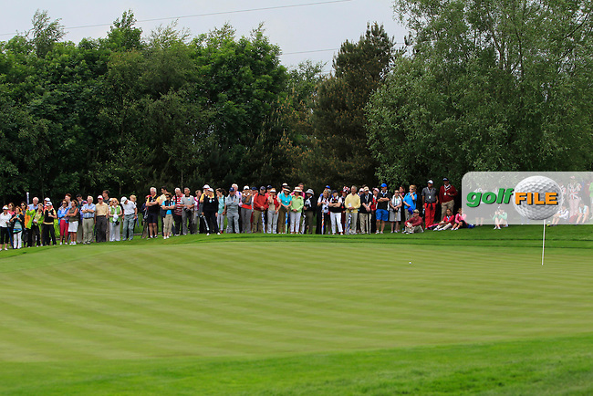 The 6th green during the Friday afternoon Fourballs of the 2016 Curtis Cup at Dun Laoghaire Golf Club on Friday 10th June 2016.<br /> Picture:  Golffile | Thos Caffrey