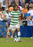 July 16, 2010 Georgios Samaras No. 9 during an international friendly between Manchester United and Celtic FC at the Rogers Centre in Toronto.