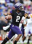 TCU Horned Frogs quarterback Trevone Boykin (2) in action during the game between the Iowa State Cyclones and the TCU Horned Frogs  at the Amon G. Carter Stadium in Fort Worth, Texas. Iowa State leads TCU 16 to 10 at halftime....