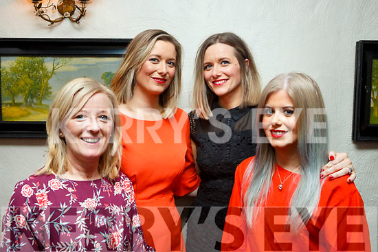 Marie and Fiona Archibald, Lorna Griffin and Louise Archibald enjoying the night out in Cassidys on Friday night last.