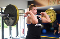 Sam Nixon of Bath Rugby in the gym. Bath Rugby pre-season training on June 22, 2017 at Farleigh House in Bath, England. Photo by: Patrick Khachfe / Onside Images