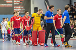 Mannheim, Germany, January 08: During the 1. Bundesliga men indoor hockey match between TSV Mannheim and Mannheimer HC on January 8, 2020 at Primus-Valor Arena in Mannheim, Germany. Final score 5-4. (Photo by Dirk Markgraf / www.265-images.com) *** Lukas Stumpf #4 of Mannheimer HC