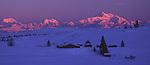 Caribou Lodge in front of Alaska Range