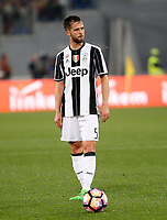 Calcio, Serie A: Roma vs Juventus. Roma, stadio Olimpico, 14 maggio 2017. <br /> Juventus&rsquo; Miralem Pjanic in action during the Italian Serie A football match between Roma and Juventus at Rome's Olympic stadium, 14 May 2017. Roma won 3-1.<br /> UPDATE IMAGES PRESS/Riccardo De Luca
