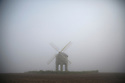 16/03/17<br /> <br /> Chesterton Windmill emerges through the fog near Leamington Spa in Warwickshire. <br /> <br /> All Rights Reserved F Stop Press Ltd. (0)1773 550665 www.fstoppress.com