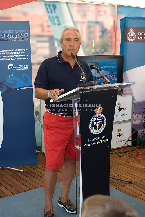 Autoridades .XIV TROFEO TABARCA CIUDAD DE ALICANTE.Real Club de Regatas de Alicante, 9 al 12 de Julio de 2009