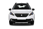 Car photography straight front view of a 2019 Peugeot 2008 GT-Line 5 Door SUV Front View