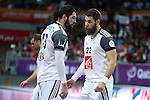 handball wordl cup match between egypt and france. Bothers Karabatic . 2015/01/18. Doha. Qatar. Alberto de Isidro. Photocall 300