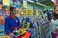A Nabisco Oreo biscuit promotion in Carrefour supermarket in Guangzhou, China.  French Carrefour is the world's second largest retail chain store group and recently opened its 42nd outlet in the Chinese mainland and has so far made its presence in 22 cities in the Chinese mainland with more than 23 thousand employees. Nabisco is a major player in the expanded industry of cooked foods which grew by more than 100% in 2003..07 May 2005