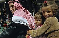 SYRIA, Aleppo, arab with children on motorbike / SYRIEN Aleppo, Araber mit Kindern auf Motorrad