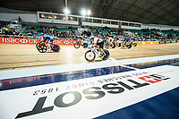 Picture by Allan McKenzie/SWpix.com - 06/01/2018 - Track Cycling - Revolution Champion Series 2017 - Round 3 - National Cycling Centre, Manchester, England - A general view of the mens Elite Championship elimination Scratch race.