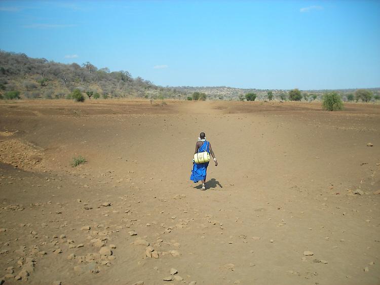 Fetching water, Tanzania