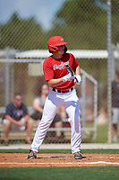 Cason Tollett during the WWBA World Championship at the Roger Dean Complex on October 18, 2018 in Jupiter, Florida.  Cason Tollett is a catcher from Little Rock, Arkansas who attends Little Rock Christian Academy and is committed to Arkansas.  (Mike Janes/Four Seam Images)
