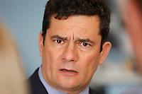 FOZ DO IGUAÇU, PR, 06.11.2019 – MINISTRO-MORO -  O ministro da Justiça e Segurança Pública, Sérgio Moro durante reunião bilateral com a delegação americana de Investigação na sede da Policia Federal em Foz do Iguaçu(PR) na tarde desta quarta-feira (06).(Foto: Paulo Lisboa/Brazil Photo Press)