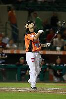 Jesse Gutierrez durante el juego de beisbol de Naranjeros vs Cañeros durante la primera serie de la Liga Mexicana del Pacifico.<br /> 15 octubre 2013