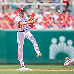 14 May 2016: Washington Nationals shortstop Danny Espinosa in action during the first game of a double-header against the Miami Marlins at Nationals Park in Washington, DC. The Nationals defeated the Marlins 6-4 in the afternoon matchup.  Mandatory Credit: Ed Wolfstein Photo *** RAW (NEF) Image File Available ***