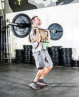 Rob Shaul has an early morning workout with Cody Hansen (blond hair) and James Howell (black hair) at the Mountain Tactical Institute in Jackson, Wyoming, Wednesday, December 6, 2017. Shaul, coming from a military background, teaches workout classes based on real life performance ability training.<br /> <br /> Photo by Matt Nager