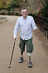 GILES DULEY, PHOTOGRAPHER, TRIPLE-AMPUTEE WHO SURVIVED A BLAST FROM AN I.E.D. IN AFGHANISTAN IN FEB 2011.  AFTER MORE THAN 30  OPERATIONS, AND REHABILITATION SESSIONS AT HEADLEY COURT, HE IS WALKING UNAIDED AND KEEN TO RESUME HIS PHOTOGRAPHIC CAREER..WEST LONDON..27-2-2012 PIC BY IAN MCILGORM