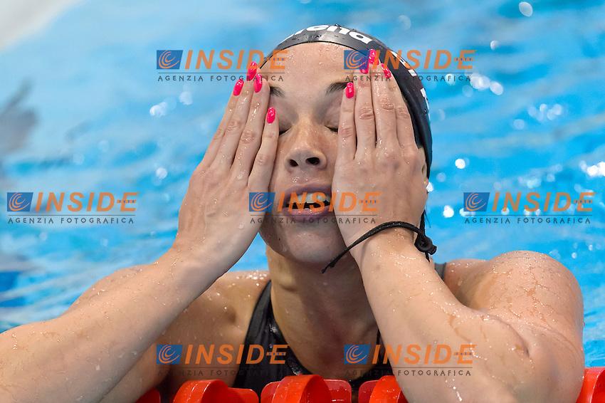 Silvia DI PIETRO ITA <br /> 100m Freestyle Women preliminary <br /> London, Queen Elizabeth II Olympic Park Pool <br /> LEN 2016 European Aquatics Elite Championships <br /> Swimming<br /> Day 09 17-05-2016<br /> Photo Andrea Staccioli/Deepbluemedia/Insidefoto