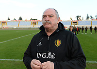 20190304 - LARNACA , CYPRUS :  Belgian team manager Hubert De Neef pictured during a women's soccer game between Nigeria and the Belgian Red Flames , on Monday 4 th March 2019 at the GSZ Stadium in Larnaca , Cyprus . This is the third and last game in group C for both teams during the Cyprus Womens Cup 2019 , a prestigious women soccer tournament as a preparation on the Uefa Women's Euro 2021 qualification duels. PHOTO SPORTPIX.BE | DAVID CATRY