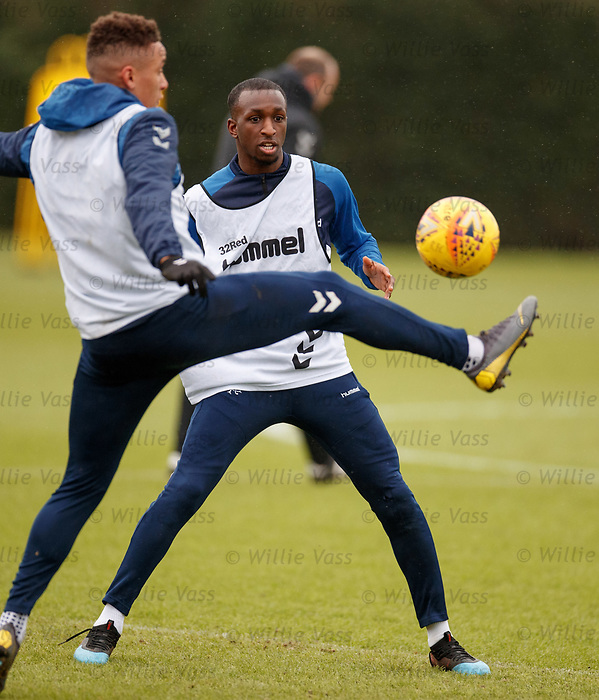 05.02.2019: Rangers training: Glen Kamara with James Tavernier