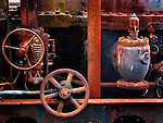Rustly old motor parts