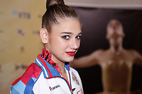 September 14, 2018 - Sofia, Bulgaria - ALEKSANDRA SOLDATOVA of Russia, little smile during press interview after AA final at 2018 World Championships.