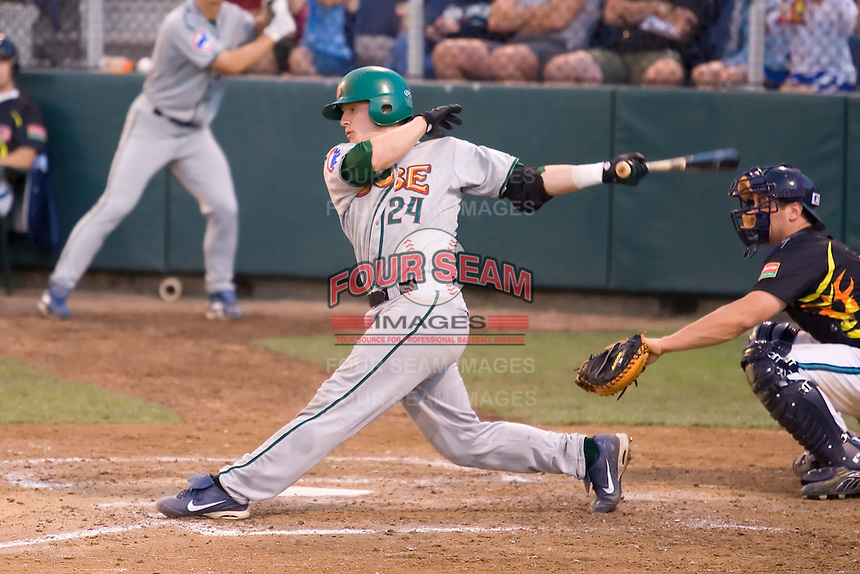 July 19, 2007: Boise Hawks' Josh Donaldson at-bat against the Everett AquaSox in a Northwest League game at Everett Memorial Stadium in Everett, Washington.