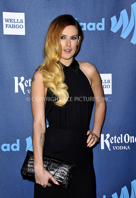 WWW.ACEPIXS.COM......April 20, 2013, Los Angeles, CA.....Rumer Willis arriving at the 24th Annual GLAAD Media Awards held at the JW Marriott Los Angeles at L.A. LIVE on April 20, 2013 in Los Angeles, California. ..........By Line: Peter West/ACE Pictures....ACE Pictures, Inc..Tel: 646 769 0430..Email: info@acepixs.com